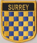 Surrey Embroidered Flag Patch, style 07